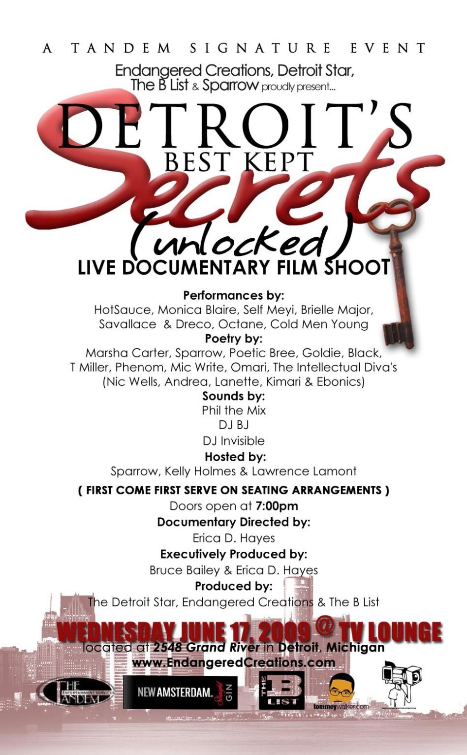 Detroit's Best Kept Secrets - Unlocked LIVE FILM SHOOT