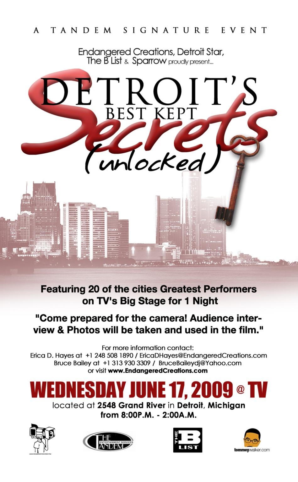 Detroit's Best Kept Secrets - Unlocked - Live Documentary Shoot